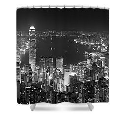 Hong Kong Skyline Shower Curtain