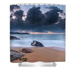 Sunrise Seascape With Clouds Shower Curtain