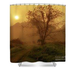 Misty Mountain Sunrise Shower Curtain by Thomas R Fletcher