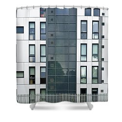Modern Building Shower Curtain