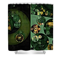 Shower Curtain featuring the digital art Abstract Painting - Smoky Black by Vitaliy Gladkiy