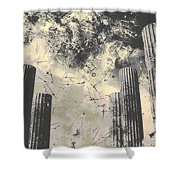 Akropolis Columns Shower Curtain