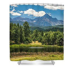 #2933 - Sneffles Range, Colorado Shower Curtain
