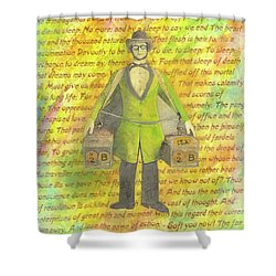 Shower Curtain featuring the mixed media 2b Or Not 2b by Desiree Paquette