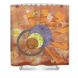 Shower Curtain featuring the mixed media 2life by Desiree Paquette