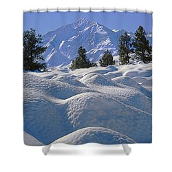 2m6402 Mt. Tom From Sherwin Grade Shower Curtain