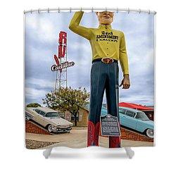 2nd Amendment Cowboy Shower Curtain