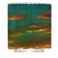 2nd In A Triptych Shower Curtain by Frances Marino
