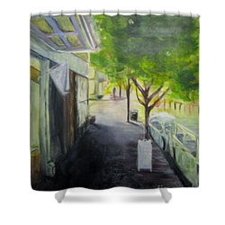 2nd St Stores Shower Curtain