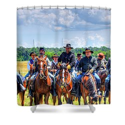 2nd Us Cavalry  Shower Curtain