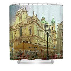 2nd Work Of St. Nicholas Church - Old Town Prague Shower Curtain