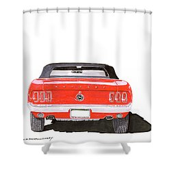 1969 Mustang Convertible Shower Curtain by Jack Pumphrey