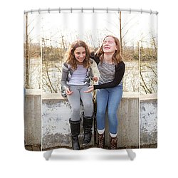 3 Shower Curtain by Rebecca Cozart