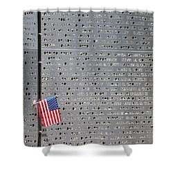 9-11 Memorial Rocky Point New York Shower Curtain by Bob Savage