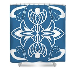 The White Plant Shower Curtain
