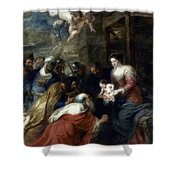 Adoration Of The Magi Shower Curtain by Granger