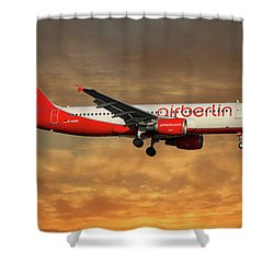 Air Berlin Airbus A320-214 Shower Curtain