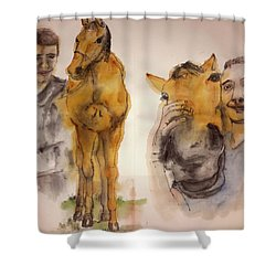 American Pharaoh Abum Shower Curtain by Debbi Saccomanno Chan