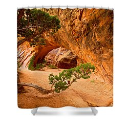 Shower Curtain featuring the photograph Arches by Evgeny Vasenev