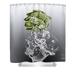 Artichoke Splash Shower Curtain