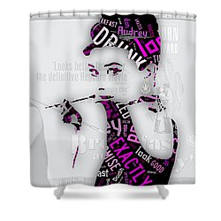 Audrey Hepburn Breakfast At Tiffany's Quotes Shower Curtain