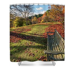 Shower Curtain featuring the photograph Autumn Leaves by Adrian Evans