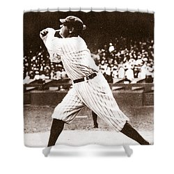 Babe Ruth Shower Curtain by American School