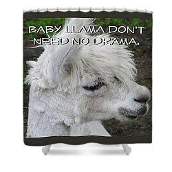 Baby Llama Shower Curtain