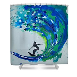 Badwave Shower Curtain