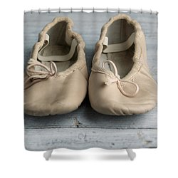Ballet Shoes Shower Curtain by Nailia Schwarz