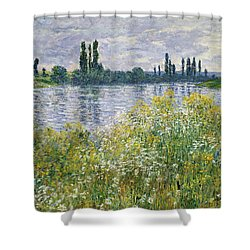 Banks Of The Seine, Vetheuil Shower Curtain
