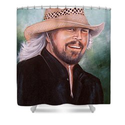 Barry Gibb Shower Curtain by Patrice Torrillo
