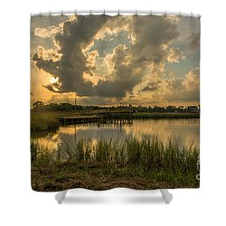 Bayou Sunset Shower Curtain
