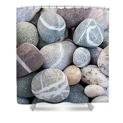 Shower Curtain featuring the photograph Beach Pebbles by Elena Elisseeva