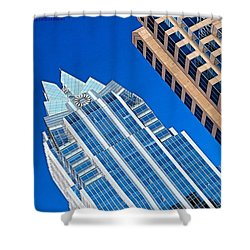 #beautiful #bluesky And The Frost Bank Shower Curtain