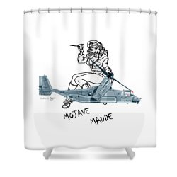 Bell Boeing Cv-22b Osprey Mojave Maude Shower Curtain by Arthur Eggers