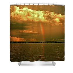 Shower Curtain featuring the photograph 3- Blue Heron Bridge by Rainbows
