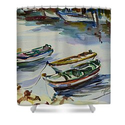 3 Boats I Shower Curtain