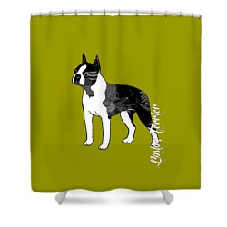 Boston Terrier Collection Shower Curtain by Marvin Blaine