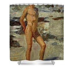 Boy On A Beach Shower Curtain