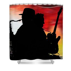 Bruce Springsteen Clarence Clemons Shower Curtain by Marvin Blaine