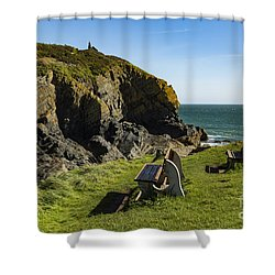 Shower Curtain featuring the photograph Cadgwith Cove by Brian Roscorla