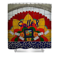 Calle Ocho Cuban Festival Miami Shower Curtain by Carol Ailles