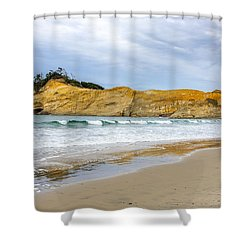 Shower Curtain featuring the photograph Cape Kiwanda by Jerry Cahill