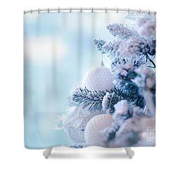 Christmas Tree Border Shower Curtain