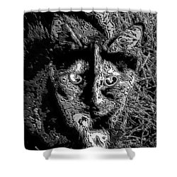 Coconut The Cat Shower Curtain