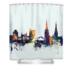 Coventry England Skyline Shower Curtain