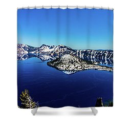 Shower Curtain featuring the photograph Crater Lake by Jonny D