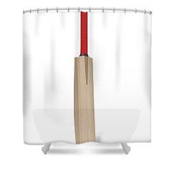 Cricket Bat Shower Curtain