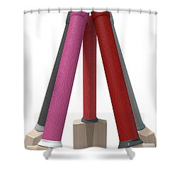 Cricket Bat Circle Shower Curtain